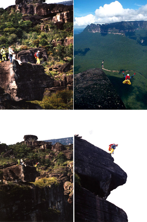 base jump, angel falls venezuela